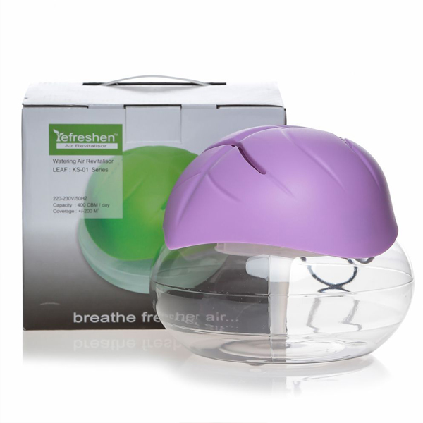 Water Air Purifier And Revitalizer With Free Liquid Drops - Purple