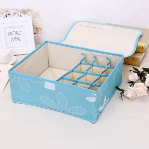 Printed Multipurpose Garments Storage - Sky Blue