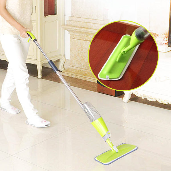 Multi-function Spray Refillable Spin Cleaning Mop - Green