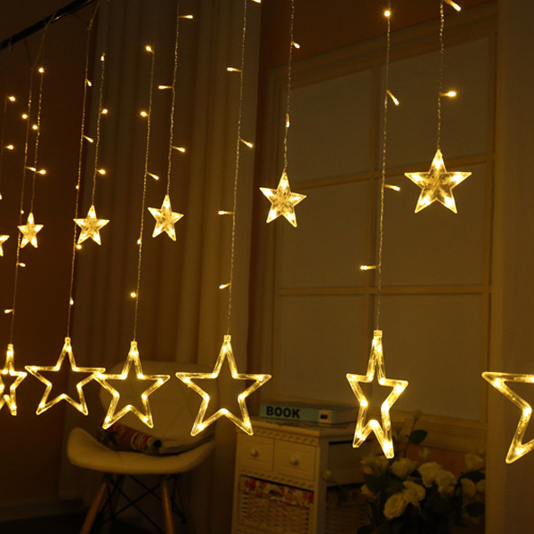 Stars Decoration Cute Easter Decoration Lights - Yellow