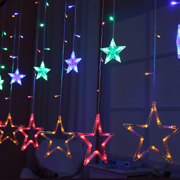 Stars Decoration Cute Easter Decoration Lights - Multicolor