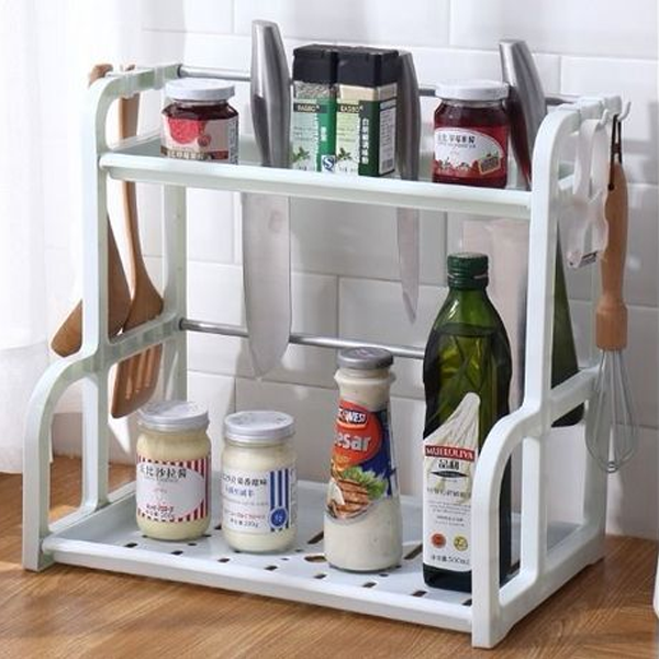 Multipurpose Adjustable Plastic Rack - White