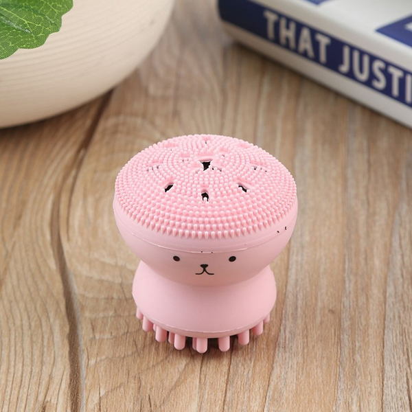 Octopus Shaped Silicone Facial Face Washing Brush