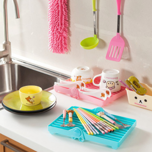 Dish Drying Creative Colorful Rack - Blue