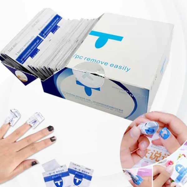 Easy Nail Police Removing Pad Wraps Set