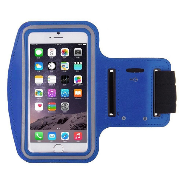 Water Resistant Running Mobile Holder Belt Pouch - Blue