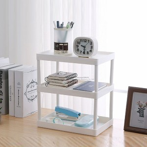 Portable Simple Three Layer Plastic Desktop Storage Rack