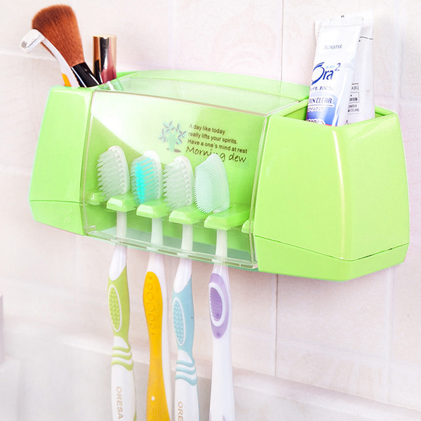 Bathroom Essentials Wall Hanging Box Storage - Green