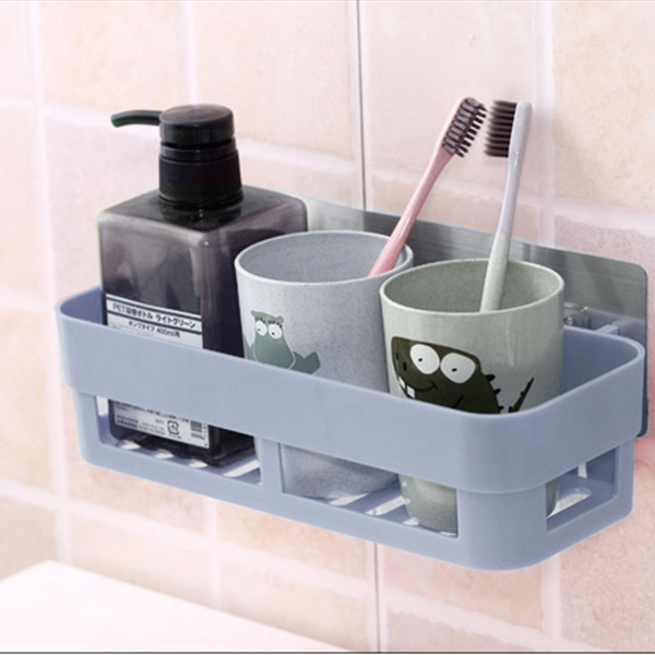 Multi Purpose Smart Plastic Wall Hanging Tray - Blue
