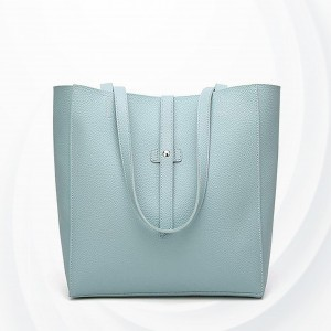 Synthetic Leather Plain Textured Shoulder Bags - Blue