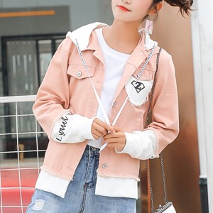 Hoodie Button Up Full Sleeves Casual Jacket - Pink