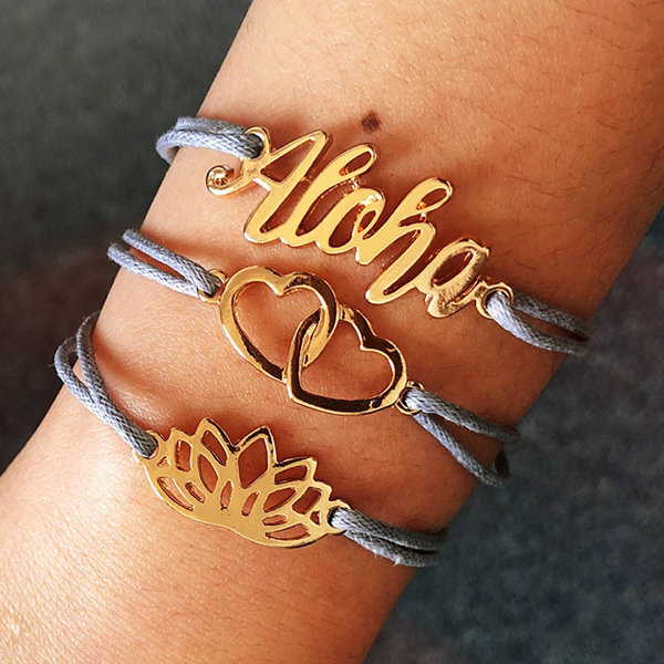 Three Pieces Casual Wear Bracelets