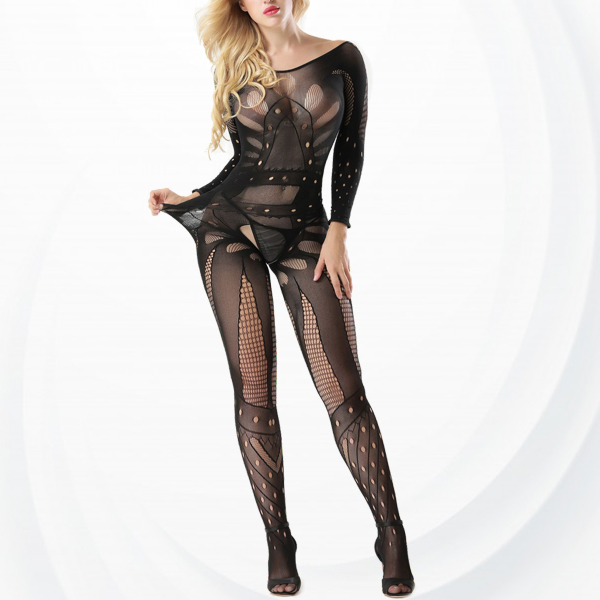Deep Back Hollow Transparent Sexy Body Stockings