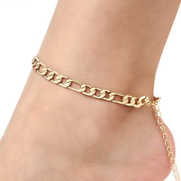 Gold Plated Thick Chain Anklet