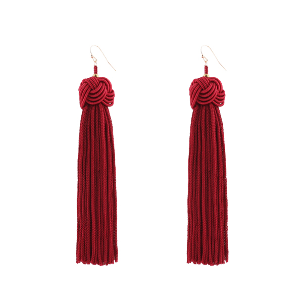 Attractive Red Party Style Tassel Tops