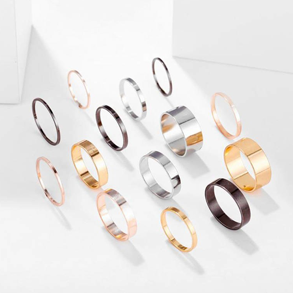 Fourteen Pieces Multi Style Rings Set