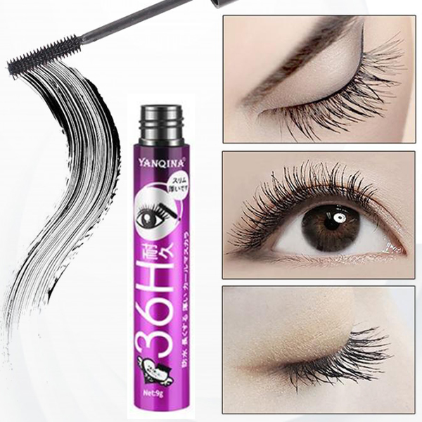 Long-lasting Soft Curling Black Waterproof Mascara - Purple