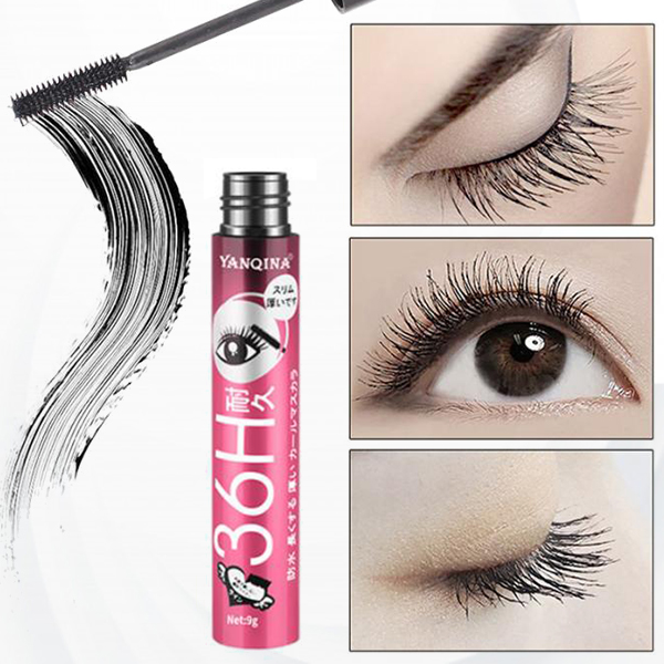 Long-lasting Soft Curling Black Waterproof Mascara - Red