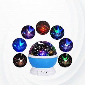 Romantic Moon Night Sky Stars Lights Projector - Blue