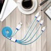 4 In 1 Silicon Coated Charging Cable For Samsung & Iphone