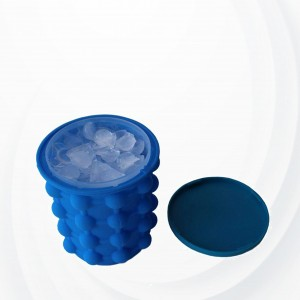 Ice Cube Maker Genie Ice Bucket - Blue