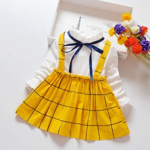 Baby Girls Kids Wear New Fashion Casual Dress - Yellow