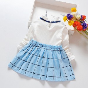 Baby Girls Kids Wear New Fashion Casual Dress - Blue