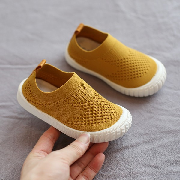 Canvas Soft Sport Comfortable Kids Wear Shoes - Yellow