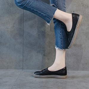Flat Wear Laced Up Casual Sneakers - Black