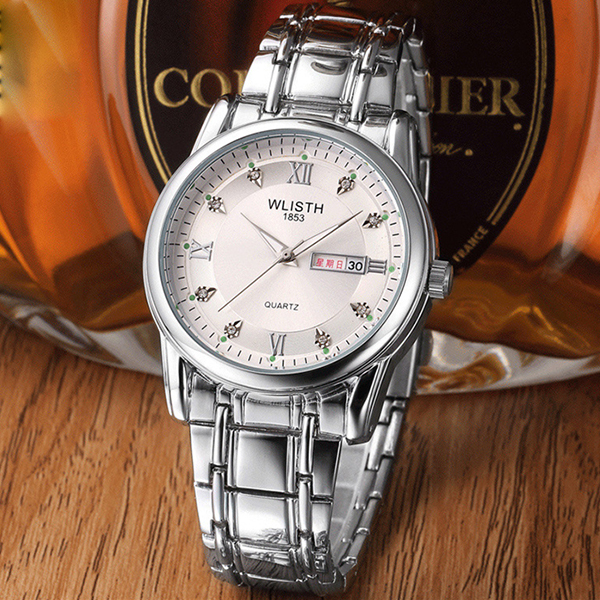Water Resistant Men's Automatic Wrist Watch - Silver